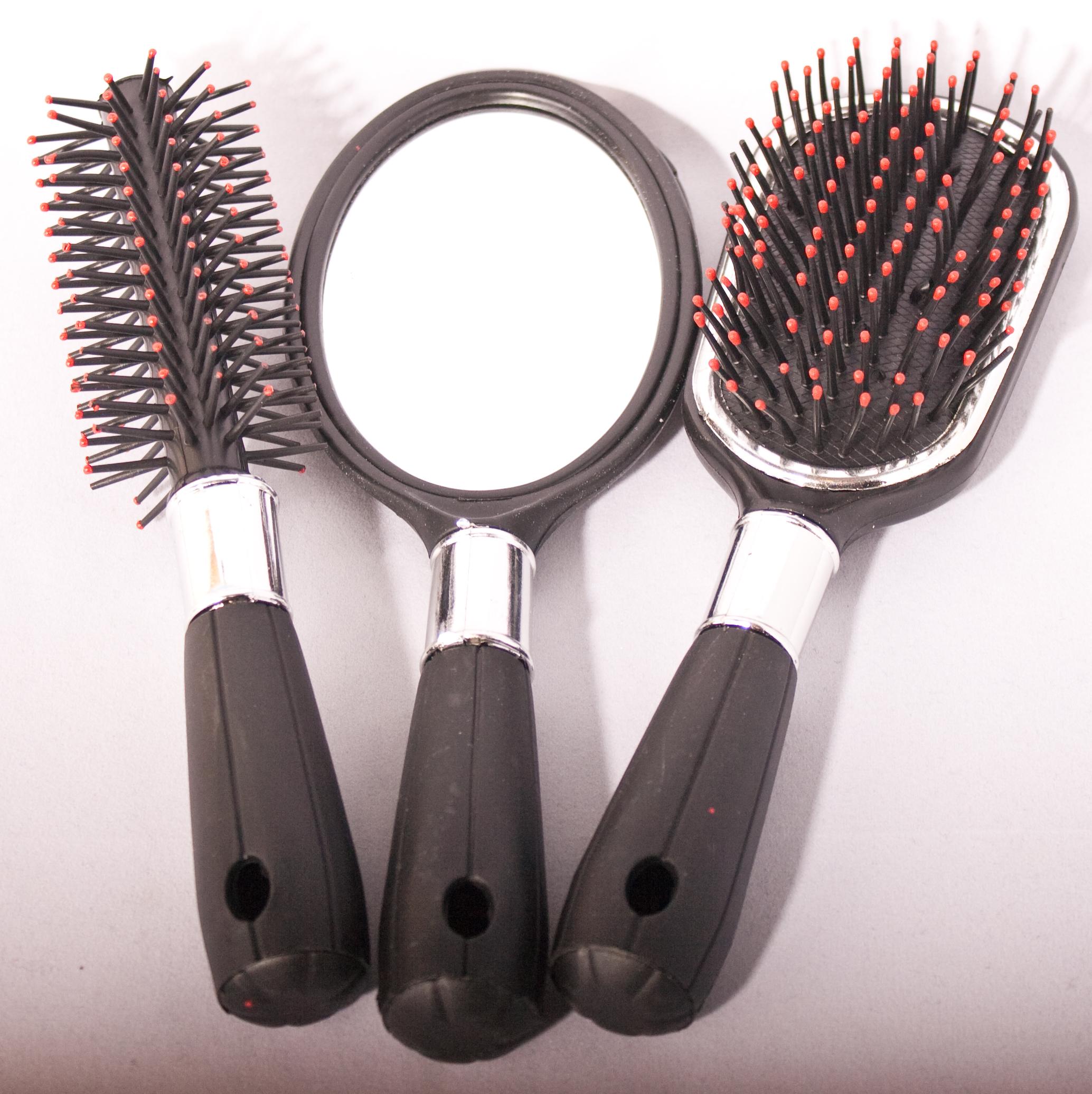 Haarborstels en spiegel (setje) - HaarfijnShop.NL